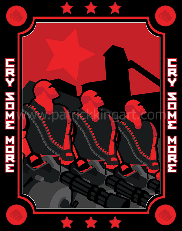 Team Fortress 2 - Red Team Heavy - Art Print