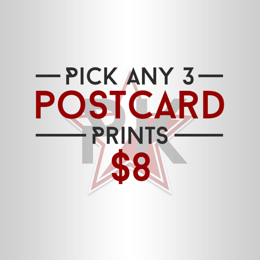 Pick Any 3 Postcard Prints Art Print