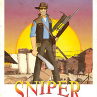 Team Fortress 2 - Blue Team Sniper - Art Print