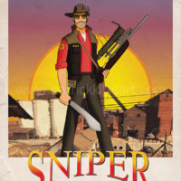 Team Fortress 2 - Red Team Sniper - Art Print