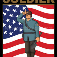 Team Fortress 2 - Blue Team Soldier - Art Print