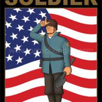 Team Fortress 2 - Blue Team Soldier - Art Print