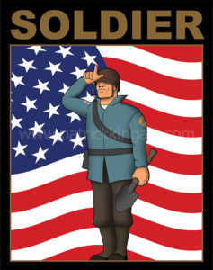 Team Fortress 2 - Soldier - Blue