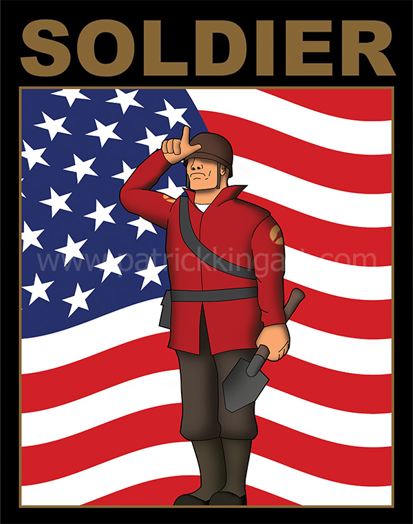 Team Fortress 2 - Red Team Soldier - Art Print
