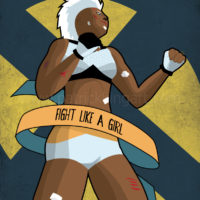 Marvel Comics - Fight Like a Girl - Storm Art Print
