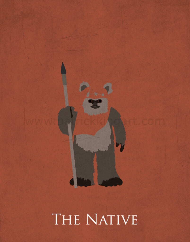 Return of the Jedi - Wicket the Ewok Art Print