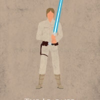 Star Wars The Empire Strikes Back - Luke Skywalker Art Print