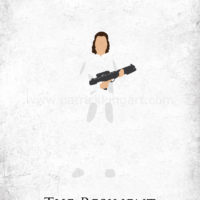 Star Wars The Empire Strikes Back - Princess Leia Art Print