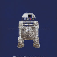 Star Wars The Empire Strikes Back - R2-D2 Art Print