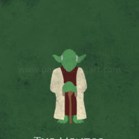 Star Wars The Empire Strikes Back - Yoda Art Print