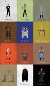 Return of the Jedi Minimalist Collection Art Prints