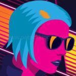 Outrun Girl Art Print