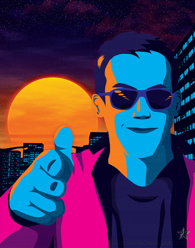 Outrun Guy Art Print