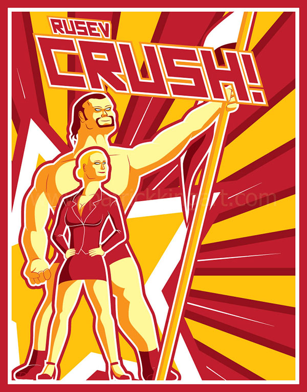 Rusev and Lana Pro Wrestling Art Print