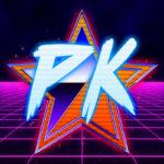 Outrun-ized Patrick King Art Logo