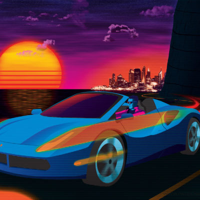 Sunset Drive Art Print