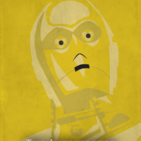 C-3PO - Star Wars A New Hope Minimalist Portraits