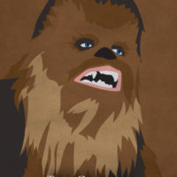 Chewbacca - Star Wars A New Hope Minimalist Portraits