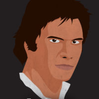 Han Solo - Star Wars A New Hope Minimalist Portraits