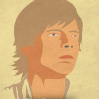 Luke Skywalker - Star Wars A New Hope Minimalist Portraits