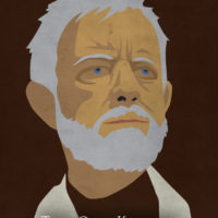 Obi-Wan Kenobi - Star Wars A New Hope Minimalist Portraits