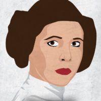 Princess Leia - Star Wars A New Hope Minimalist Portraits