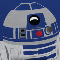 R2-D2 - Star Wars A New Hope Minimalist Portraits