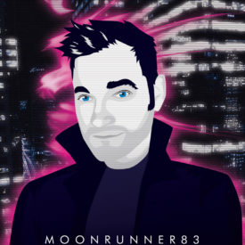 Synthwave Artist Portrait - Moonrunner83