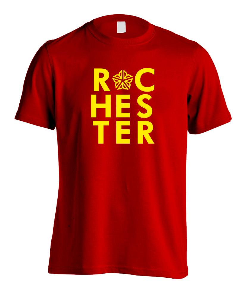 Officially Licensed Rochester Logo Type T-Shirt Art Print