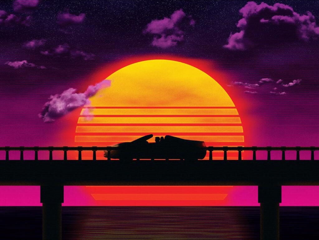 Causeway (Car) Art Print