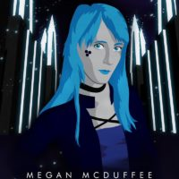 Synthwave Artist Portrait - Megan McDuffee