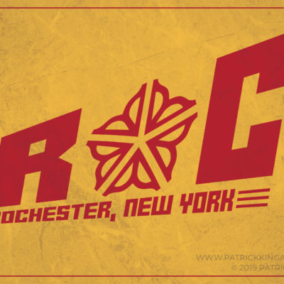 Rochester Block Logo **OFFICIALLY LICENSED** Sticker