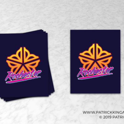 Retro Rochester **OFFICIALLY LICENSED** Sticker