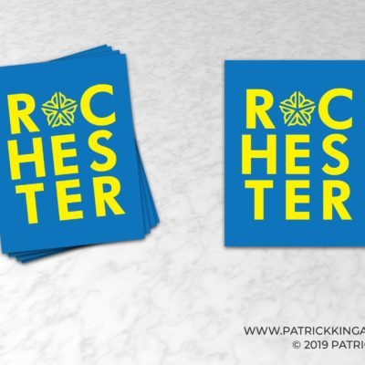 Rochester Typographic Logo **OFFICIALLY LICENSED** Sticker