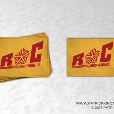 Rochester Block Logo **OFFICIALLY LICENSED** Sticker