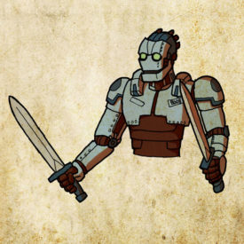 D&D Portrait - Warforged #8008