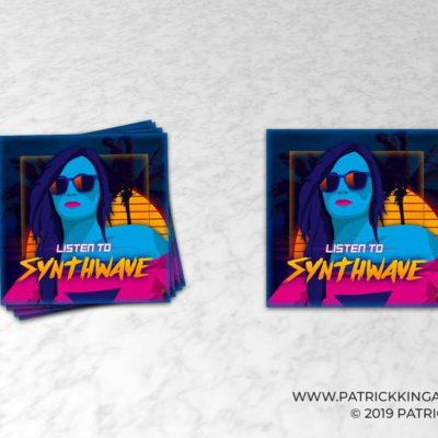 Listen to Synthwave sticker