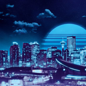 Retro Calgary (Blue Variant)