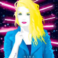 Synthwave Artist Portrait - NINA