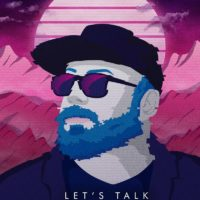 Custom Synthwave Artist Portrait - Let's Talk