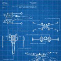 Star Wars Blueprints - X-Wing Art Print