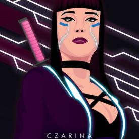Synthwave Artist Portrait - Czarina