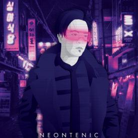 Synthwave Artist Portrait - Neontenic