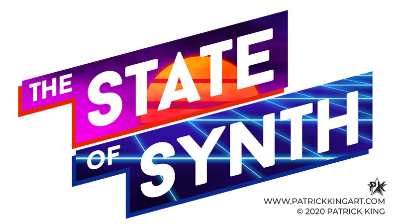 The State of Synth Logo - Synthwave