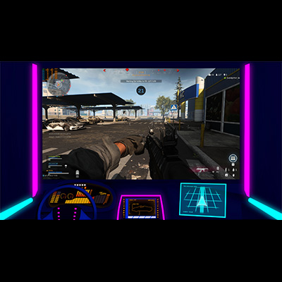 Neon Retro Dashboard Twitch Screen