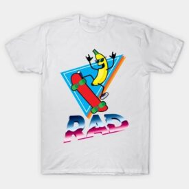 Rad Skater Banana T-Shirt Design