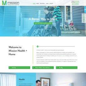 Mission Health + Home Website Design