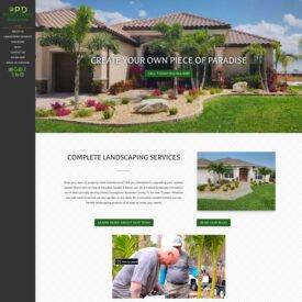Paradise Garden & Decor Website Design