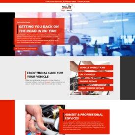 Redline Auto Repair Website Design