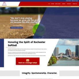 Rochester Softball Hall of Fame Website Design